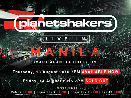 I'm Watching the PlanetShakers Concert in August!