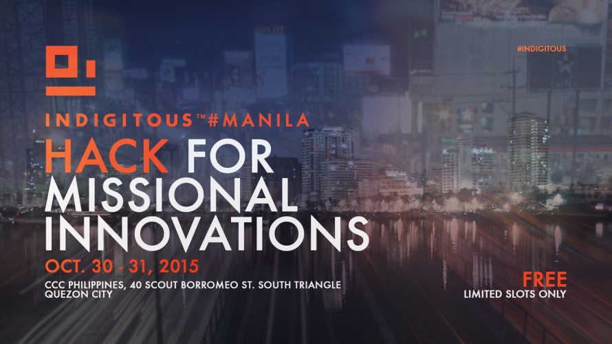 Indigitous#Manila: Hack for Missional Innovation